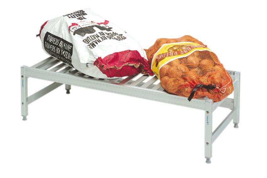 Voedingsgeschikt modulair rekkensysteem voor koel- en vriescellen